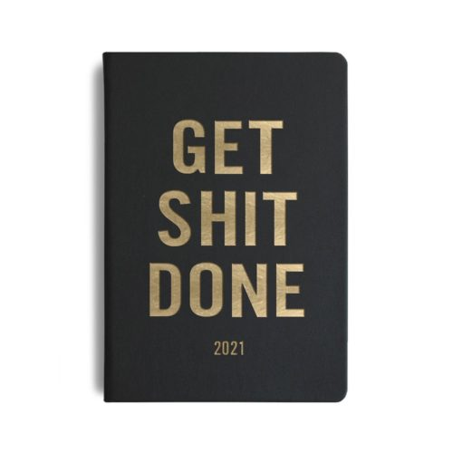 MiGoals - 2021 GSD Diary - Weekly - A5 - Soft Cover - Black