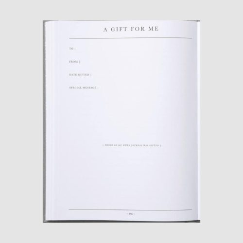 Write to me - Baby Book Grey