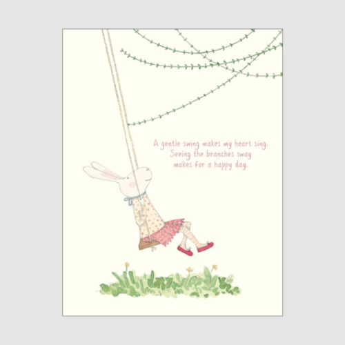 Ruby Red Shoes Card - A Gentle Swing