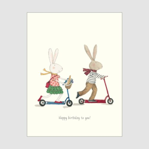 Ruby Red Shoes Card - Birthday Scooters