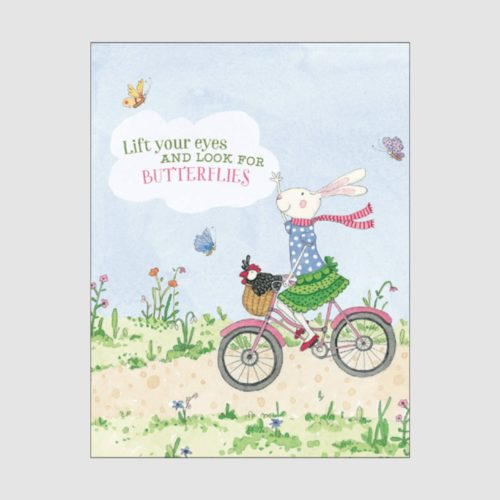 Ruby Red Shoes Card - Look For Butterflies