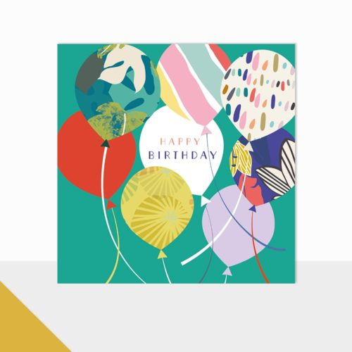 Glow Collection Card - Happy Birthday Balloons