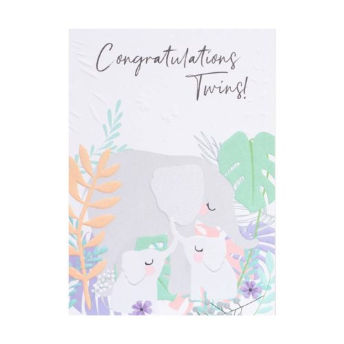 Wild Thing Card - Congratulations Twins