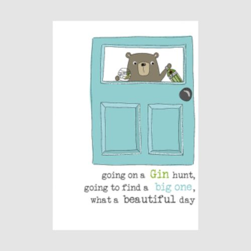 Words Of Wisdom Collection Card - Going on a Gin Hunt