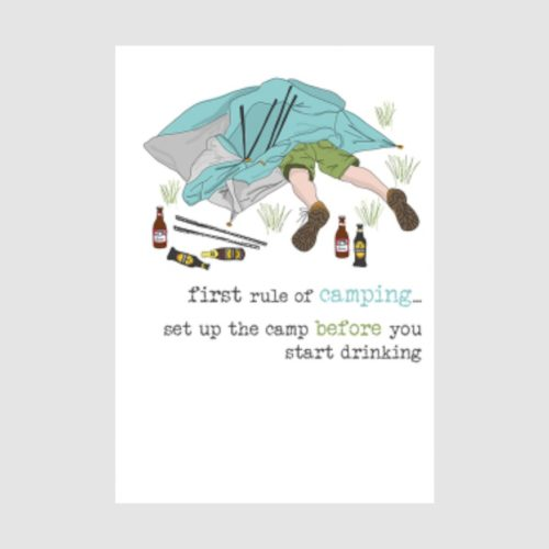 Words Of Wisdom Collection Card - First Rule of Camping