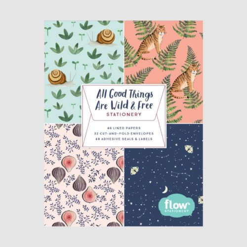 All Good Things Are Wild And Free Stationery Book