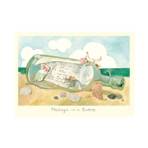 Two Bad Mice Card - Message In A Bottle