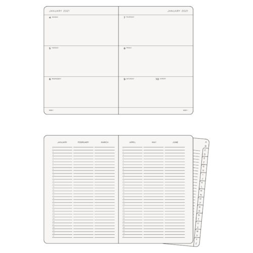 Leuchtturm 2021 Weekly Planner and Notebook - Navy, A5