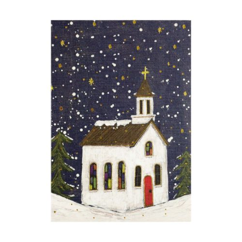 Peter Pauper Press Mini Boxed Christmas Cards - Village Church