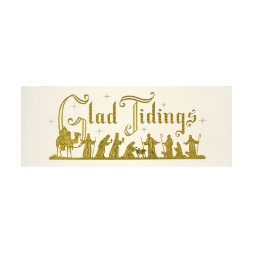 Peter Pauper Press Panoramic Boxed Christmas Cards - Glad Tidings