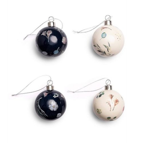 Kimmy Hogan Ceramic Baubles - 4 pack