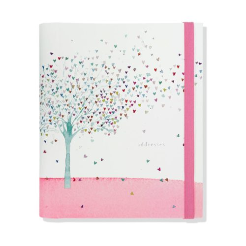 Peter Pauper Press Address Book Large - Tree of Hearts