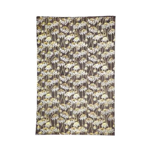 Handmade Wrapping Paper Sheet - Twigs Gold On Slate