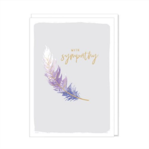 Kirra Card - With Sympathy Feather