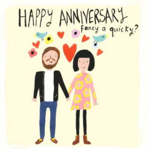 Sooshichacha Card - Happy Anniversary Fancy a Quicky?