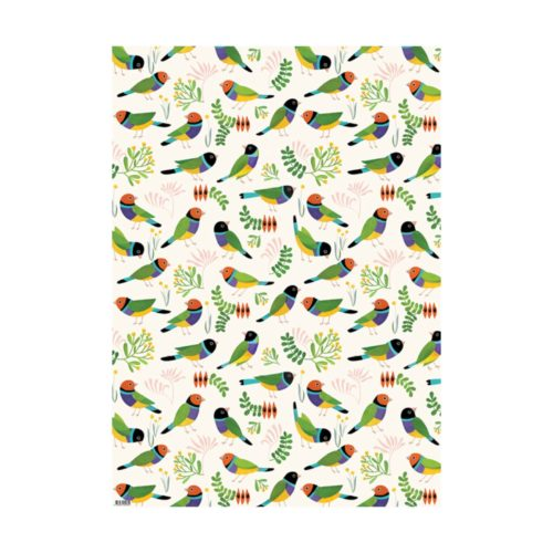 Earth Greetings Wrap - Desert Finches