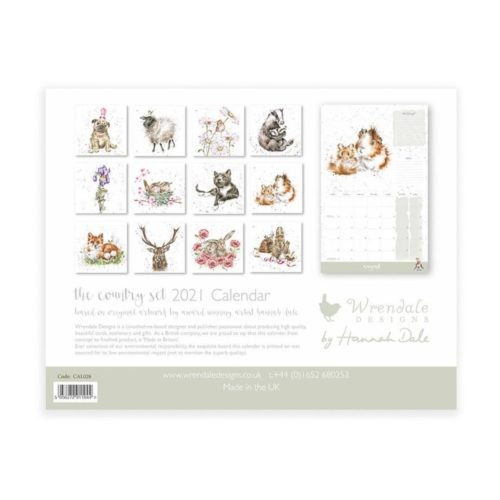 2021 Wall Calendar - The Country Set