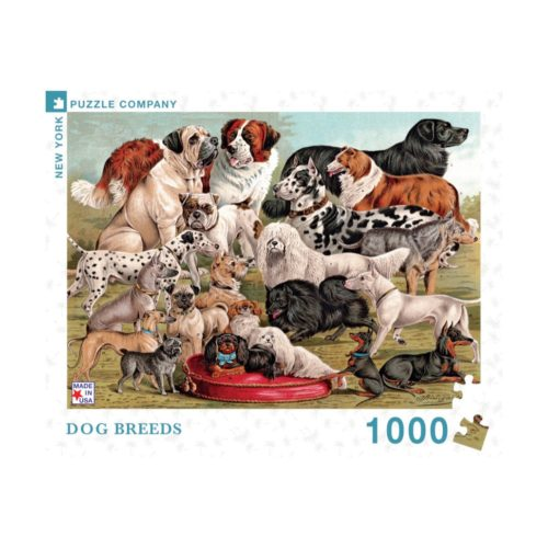 New Yorker 1000 Piece Puzzle - Dog Breeds