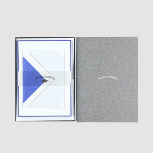 Original Crown Mill A5 Sheet and Envelope Boxed Set 25 - White/Royal Blue