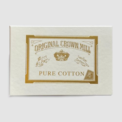 Original Crown Mill Boxed Stationery Set of 100 Sheets & 50 Envelopes - Pure Cotton