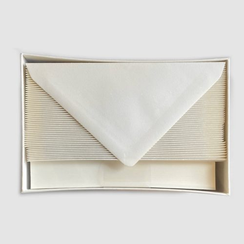 Original Crown Mill Boxed Stationery Set of 100 Sheets & 50 Envelopes - White
