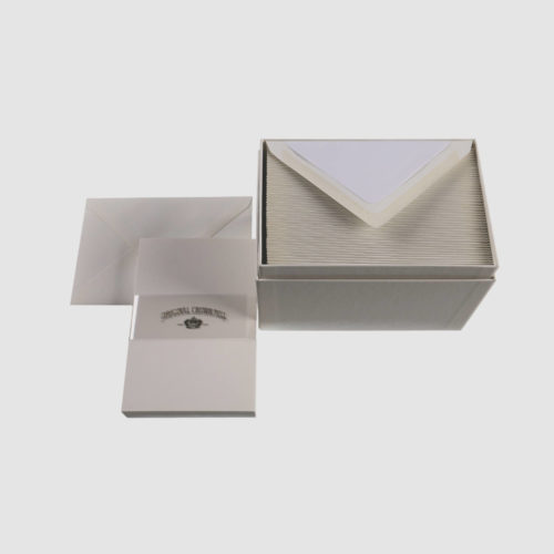 Original Crown Mill Boxed Stationery Set of Cards & Envelopes x 50 - Pure Cotton