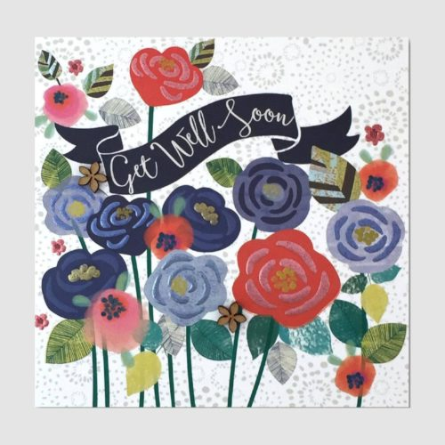 The Chroma Collection Card - Get Well Soon Flowers