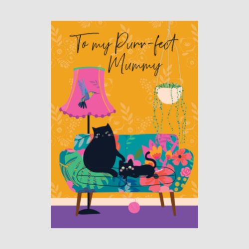 Wild Thing Card - Purr-fect Mummy