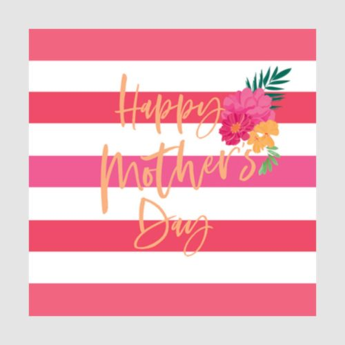 Number 78 Card - Mother's Day Stripes
