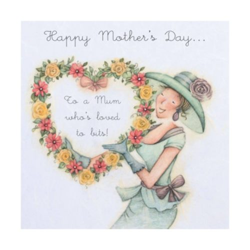 Card - Happy Mothers Day - Loved to bits