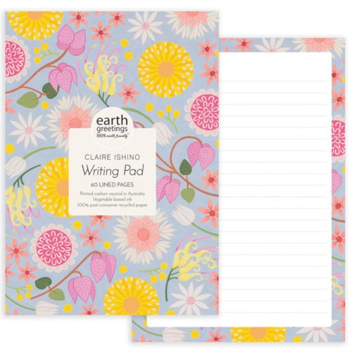 Earth Greetings Writing Pad by Claire Ishino - Wildflower Moorland