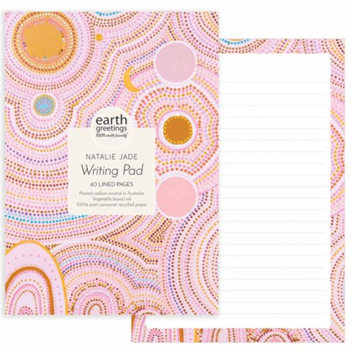 Earth Greetings Writing Pad by Natalie Jade - Seven Sisters Dreaming III