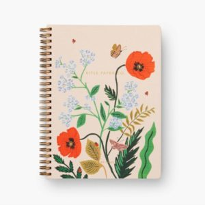 Rifle Paper Co Spiral Notebook – Ruled – A5 – Poppy Botanical