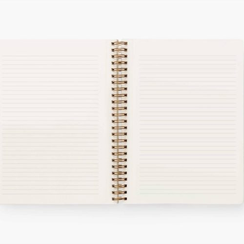 Rifle Paper Co Spiral Notebook - Ruled - A5 - Poppy Botanical
