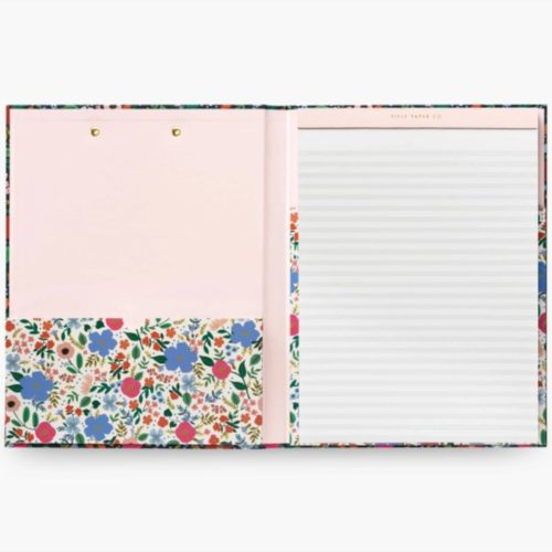 Rifle Paper Co Clipfolio with Notepad - Wild Rose
