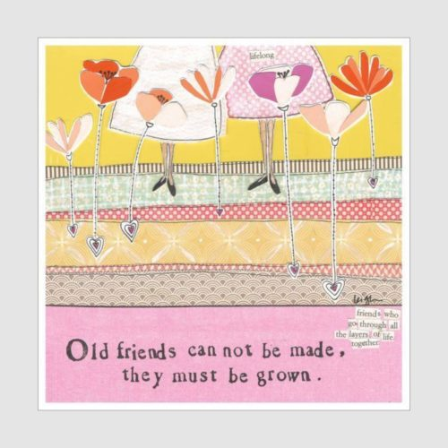 Curly Girl Design Card - Old Friends