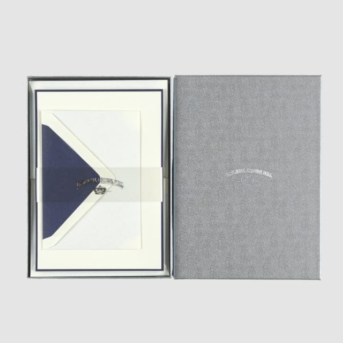 Original Crown Mill A5 Sheet and Envelope Boxed Set 25 - Cream / Blue