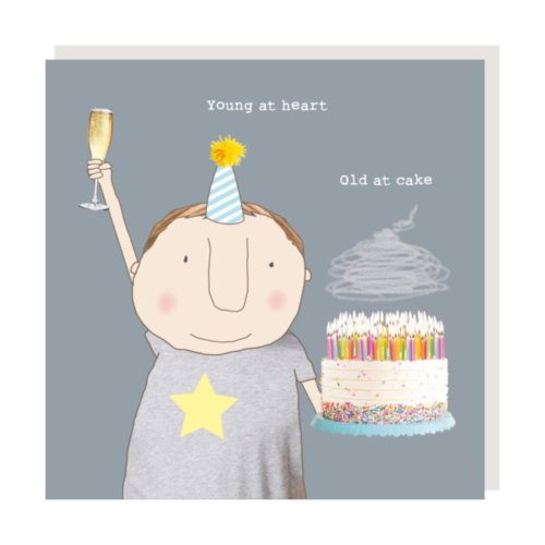 Rosie Made A Thing Card - Young at Heart, Old at Cake Boy