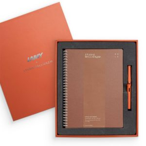 Studio Milligram LAMY Safari Fountain and Studio Milligram Notebook Gift Set – B5 – Terra Red Pen – Rust