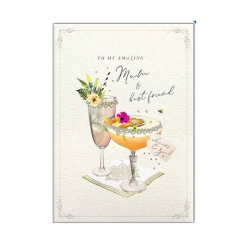 Stephanie Davies Card - To My Amazing Mum and Best Friend - Cocktails