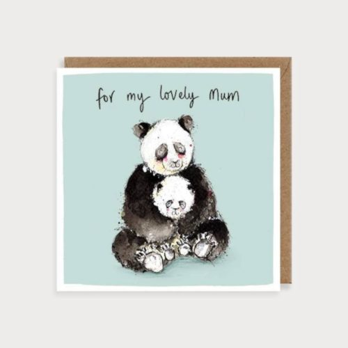 Louise Mulgrew Card - Mother's Day - My Lovely Mum - Pandas