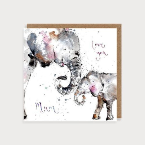 Louise Mulgrew Card - Mother's Day - Love You Mum - Elephants