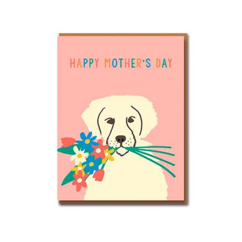 Emma Cooter Draws Card - Happy Mother's Day - Puppy