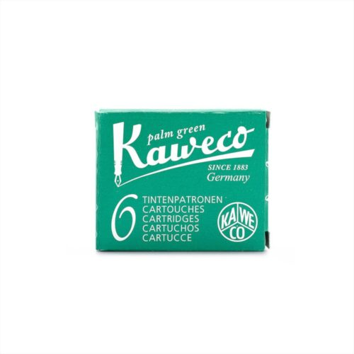 Kaweco - Fountain Pen Ink Cartridges - Pack of 6 - Green