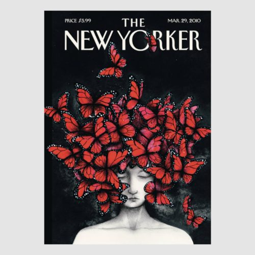 The New Yorker Card - Butterfly Woman
