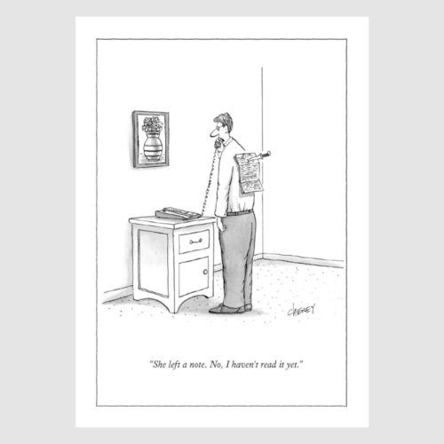 The New Yorker Card - Left A Note