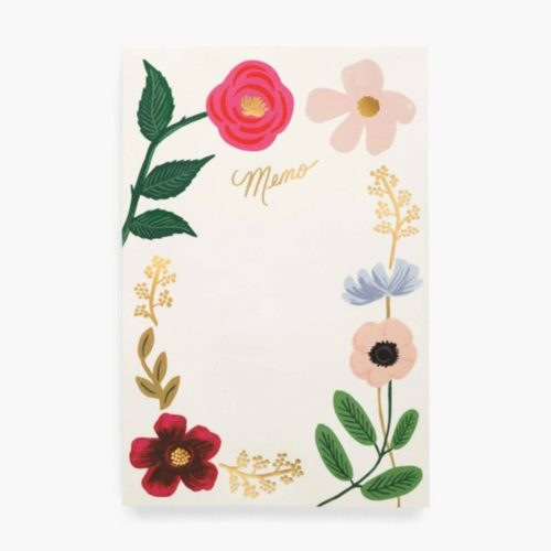 Rifle Paper Co. Memo Notepad -  Wildflower