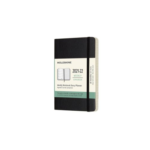 Moleskine (2021-22) 18 Month Soft Cover Diary - Weekly Notebook - Pocket - Black
