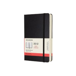 Moleskine (2021-22) 18 Month Hard Cover Diary – Daily – Large – Black