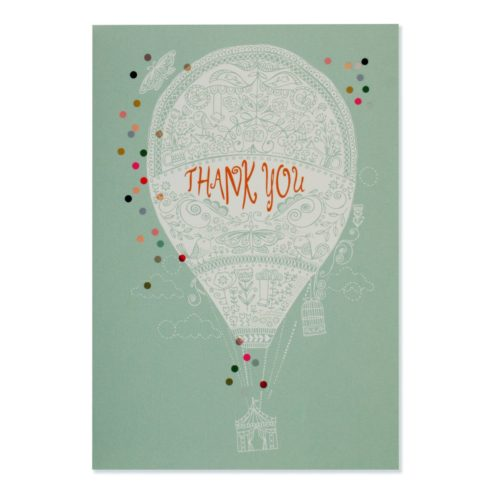 Peter Pauper Press Boxed Thank You Note Cards - Up, Up and Away